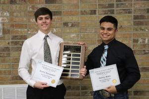 Football Bud Rollins Scholarship:  Kaden Montgomery & Mateo Nunez