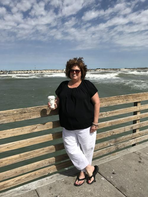 Coffee at the beach, two of my favorite things!