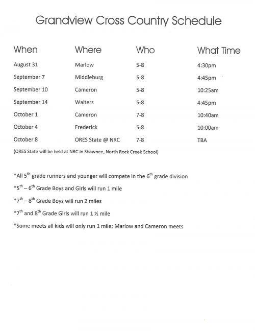 cc schedule