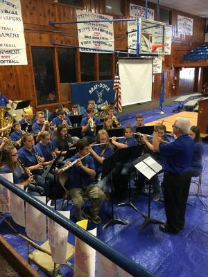 Band performing at Veteran's Program