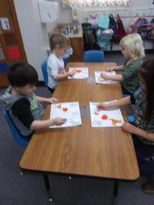 Painting by coloring matching circles to numbers