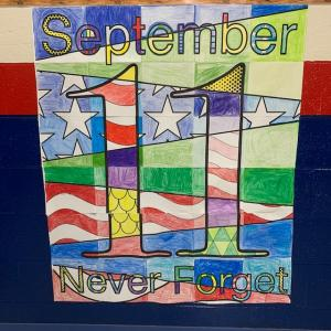 9-11 Poster from 2nd and 4th grade classes