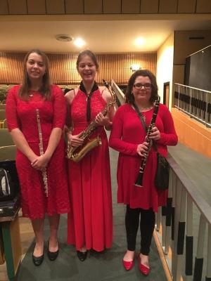 Katy, Andrea, Emily @ district ensemble contest