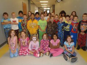 Wake up sleepy Heads! PJ Day in 2nd grade!