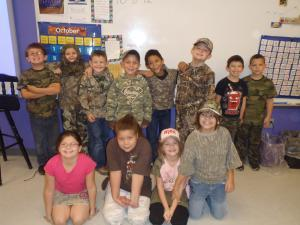 Camo Day in 2nd grade!
