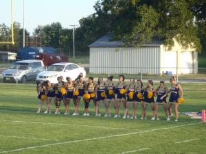 WHS cheerleaders 1st game
