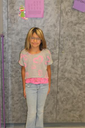 Karissa's First Day of 3rd Grade