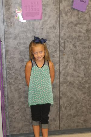 Kendall's First Day of 3rd Grade