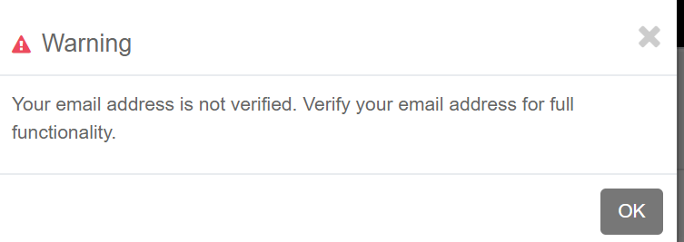email not verified