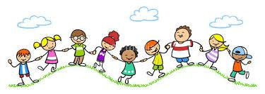 Kinder Kids at Play Clipart