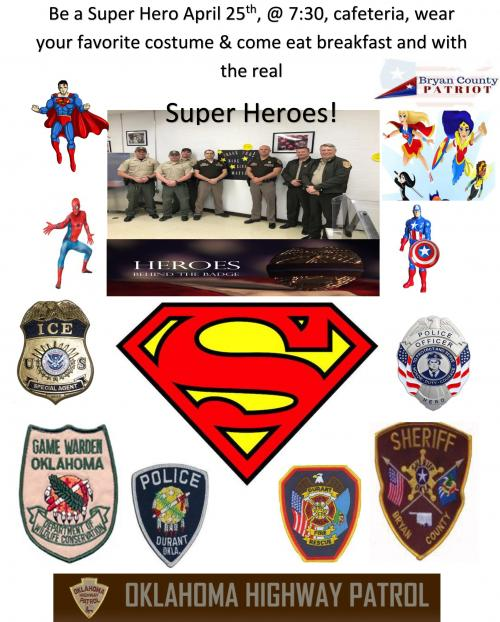 Breakfast with Real Super Heros April 25th