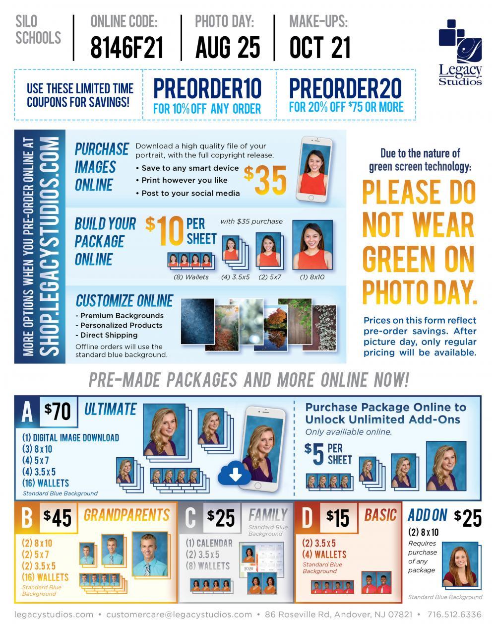 School Photo Retake Day October 21st