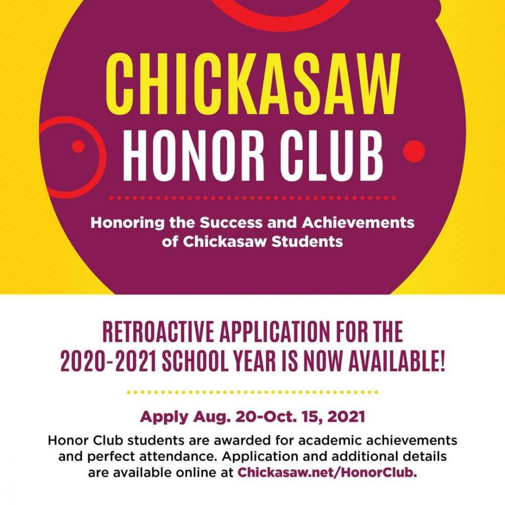 2020-21 Chickasaw honor Club
