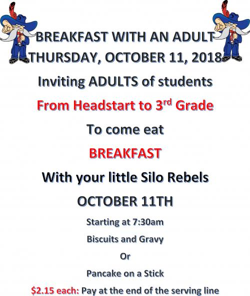 Breakfast with an Adult October 11th