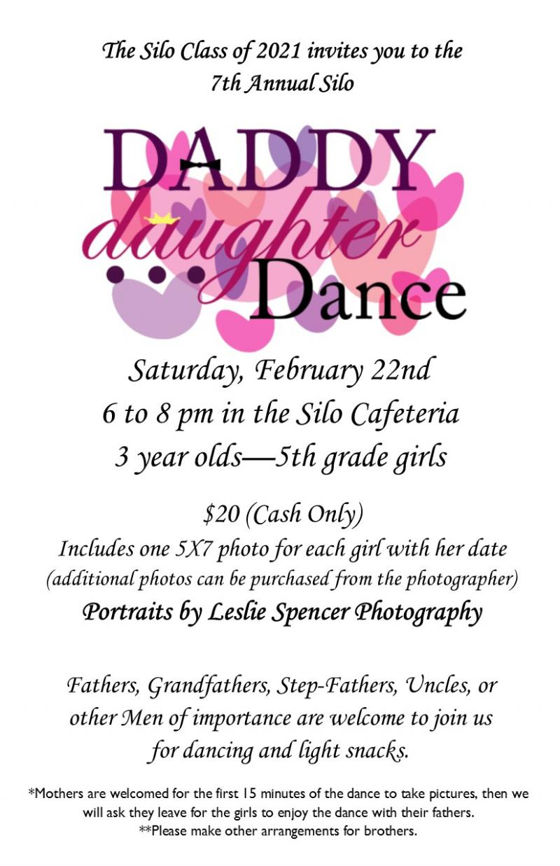 7th Annual Father Daughter Dance Saturday, February 22nd