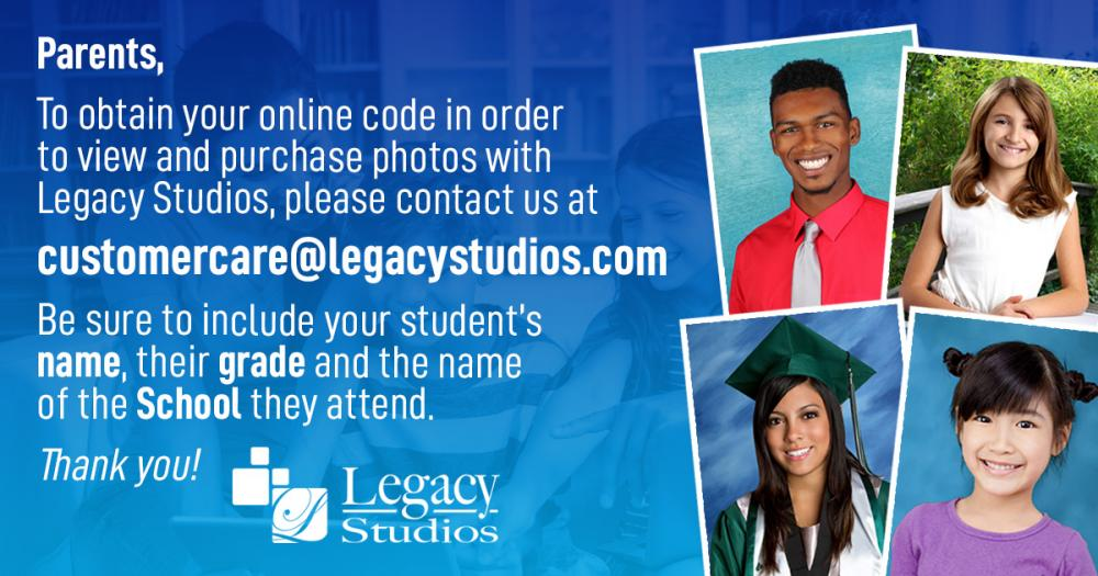 Code to Order the Legacy Studio Spring Portraits