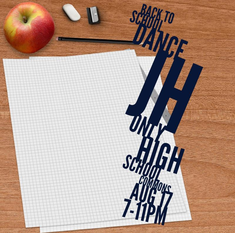 Back to School Dance JH Only High School Commons August 17 7-11 pm