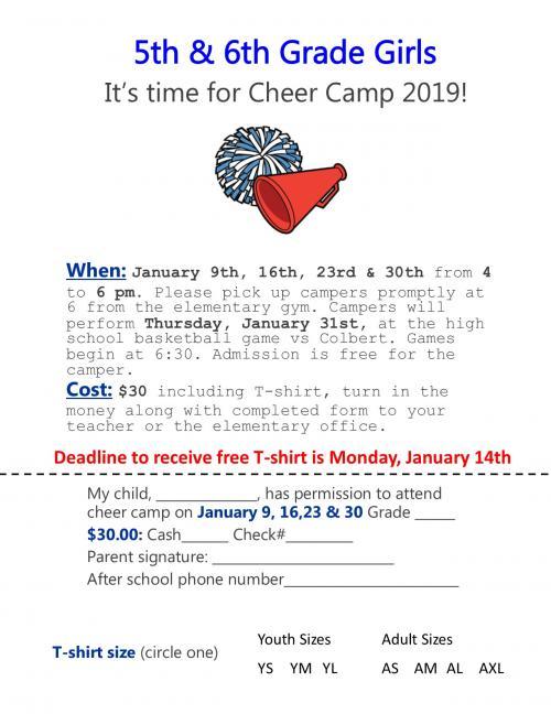 5th & 6th Grade Cheer Camp