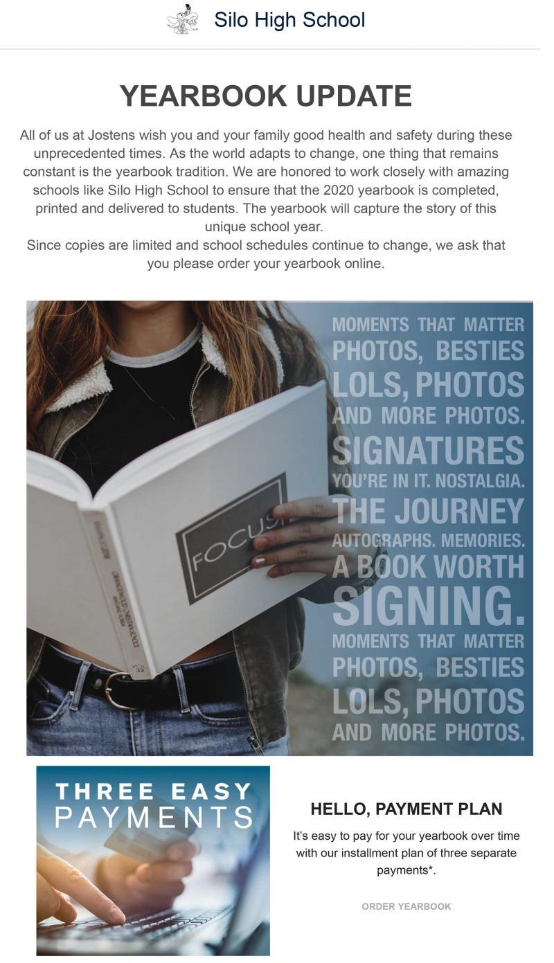 Order Your Yearbook Online