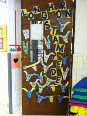 Our Homecoming Door Contest winning door!