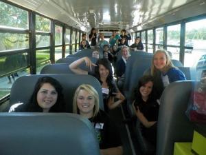 FCCLA bus rides....