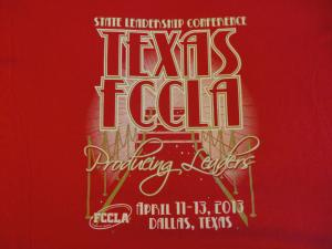 FCCLA t-shirt for 2013 State Convention!  (Apr 2013)