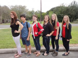 FCCLA@HFHS Officers 2014-2015 headed to Fall Leadership in Lumberton!