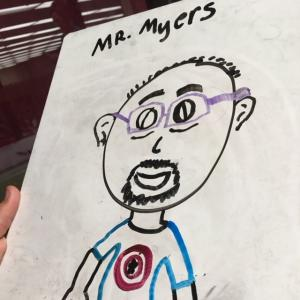 Portrait of me by a student!