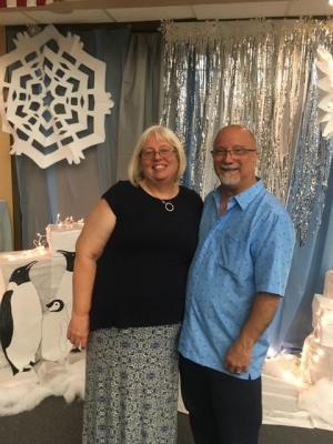 Winter Wonderland with my wife.