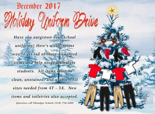 Holiday Uniform Drive