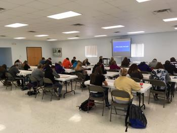 Power Prep ACT Class held at the Waverly Community Building