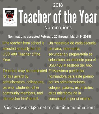 Teacher of the year flyer