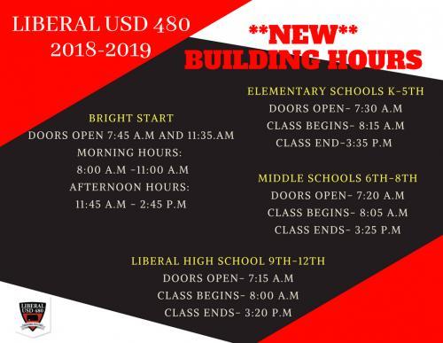 2018 Building Schedule