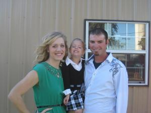 My family....Myself, Taylor, and Chad.