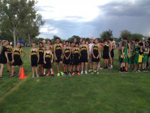 just before a XC meet