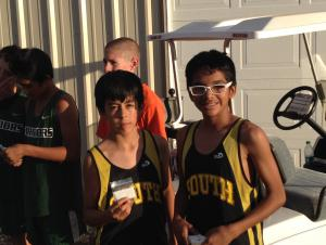 Omar and Victor with medals from Ulysses meet