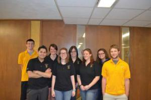 FHSU Writing Center staff before the 2014-2015 school year.