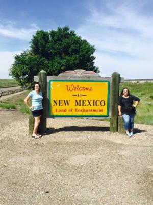 Ms. Gonzales and I at the New Mexico border