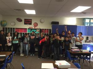 A pose from Mrs. Gilmore's class.