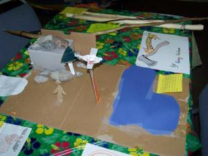 Jordan's diorama with genuine plane crashing action!