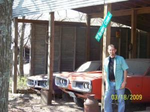 My  Bee hive.  Me with my two 1970 Super Bees