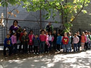 The children had two firsts on their field trip--riding a school bus and seeing exotic animals.