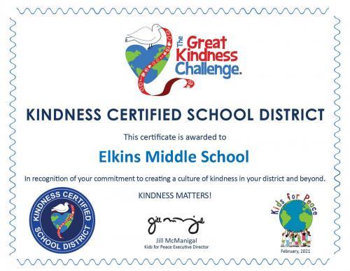 Kindness Certificate