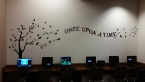 Library Wall over computer center