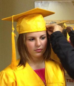Gracie at her 6th grade graduation