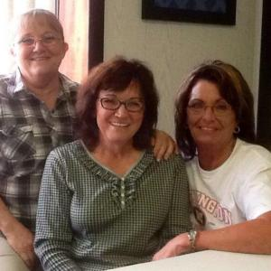 My sister Sharon Kennedy, Mom Betty Self-Reagan, and myself
