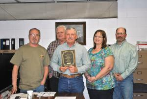 A.J. Ferguson was honored for his 24 years of service at the February 4, 2013, board meeting.