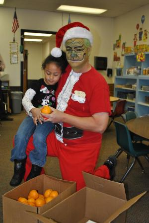 This Pre-K student was not afraid of the Grinch.