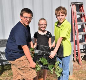 Fifth graders get to make a strawberry box