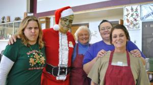 Even the support staff enjoy a visit from the Grinch
